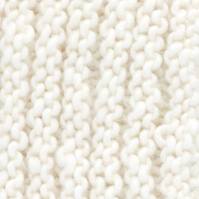 Baloiço em madeira abachi, capa em lã natural