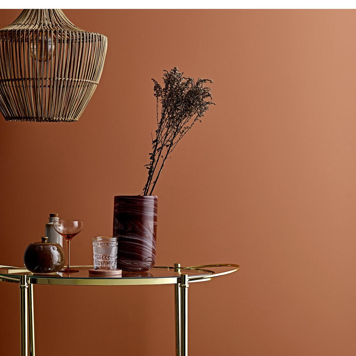 Candeeiro de tecto em vime natural, Ø42X50 cm
