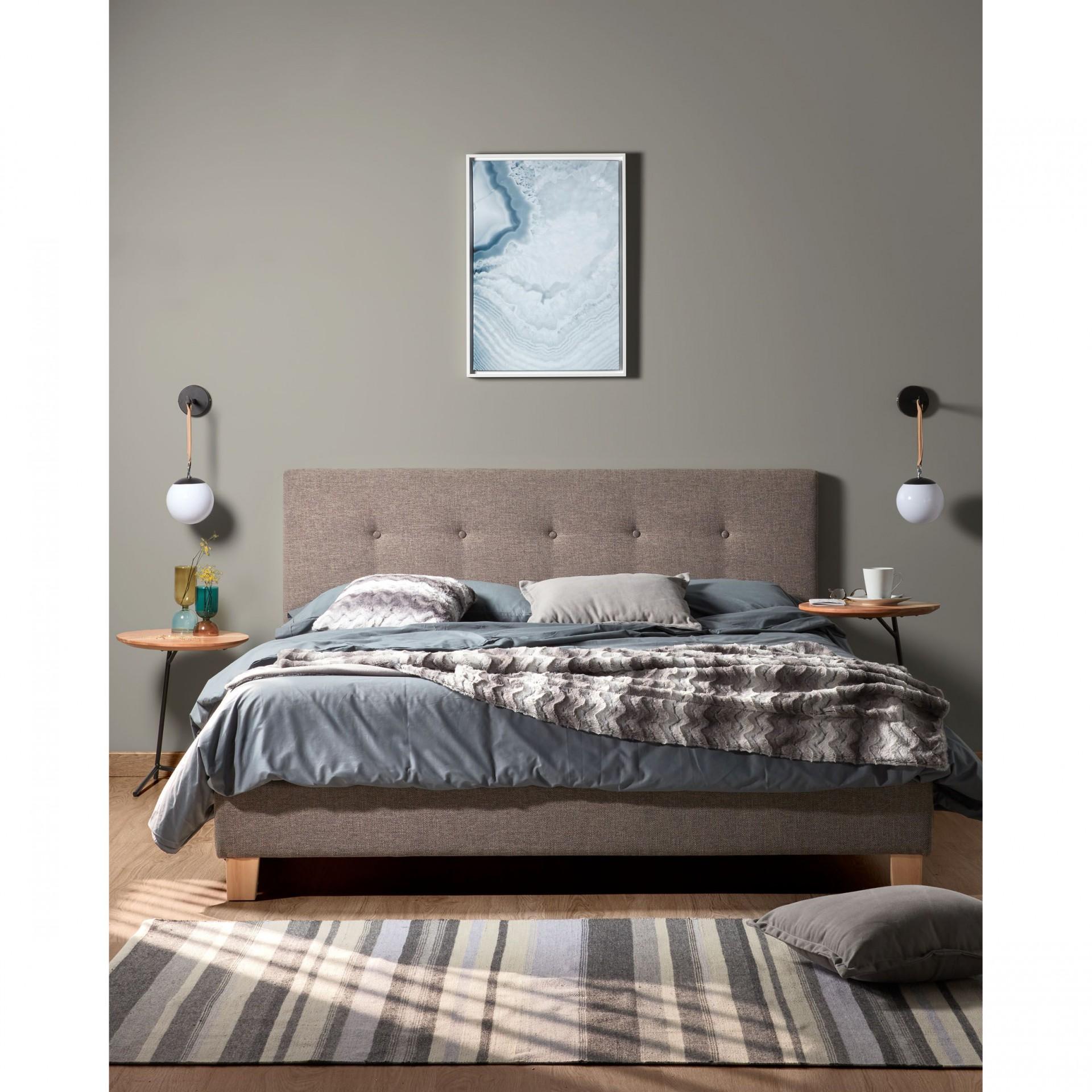 Candeeiro de parede Globo, acrílico/metal, branco/preto, Ø14x38 cm