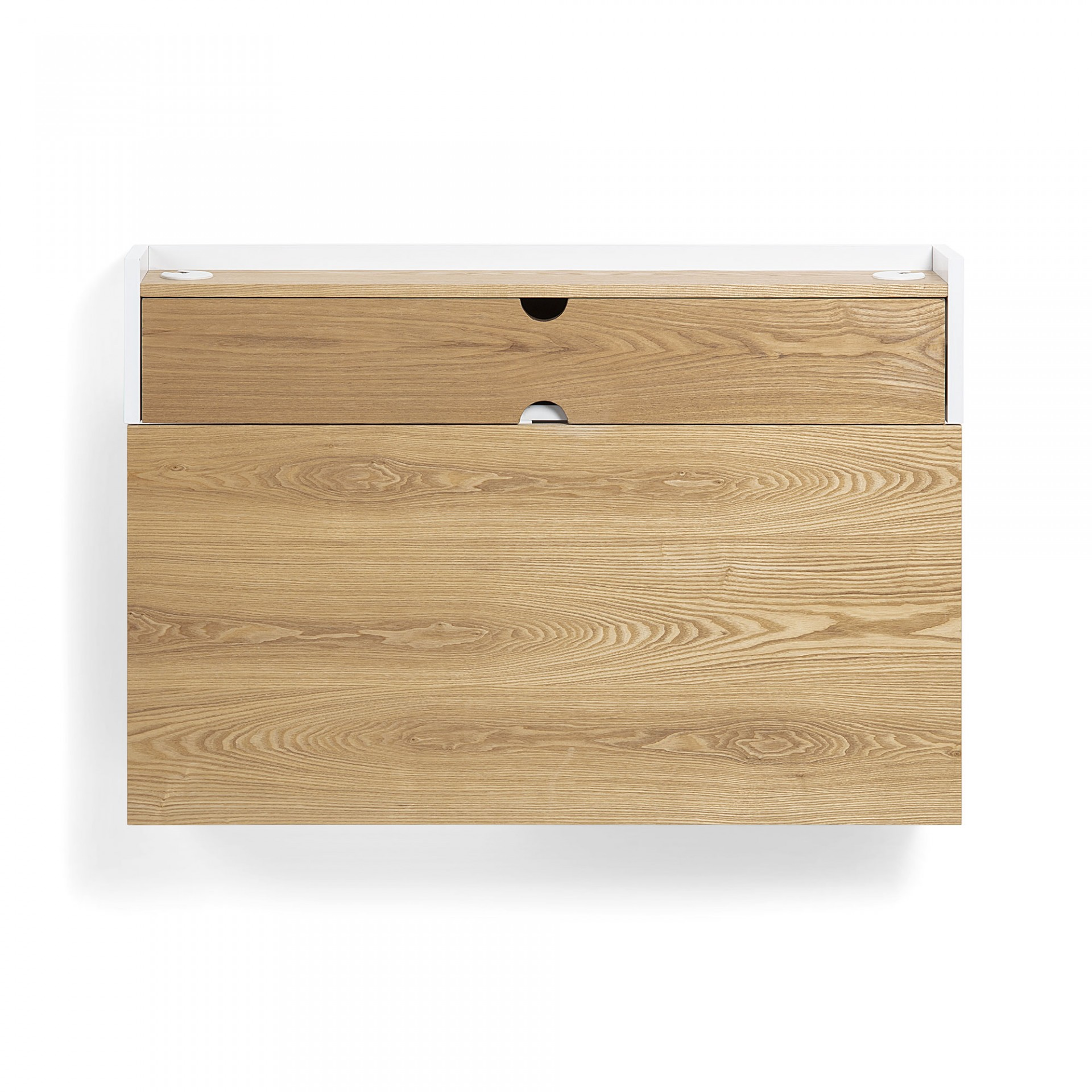 Secretária de parede, madeira de freixo, 74x100 cm