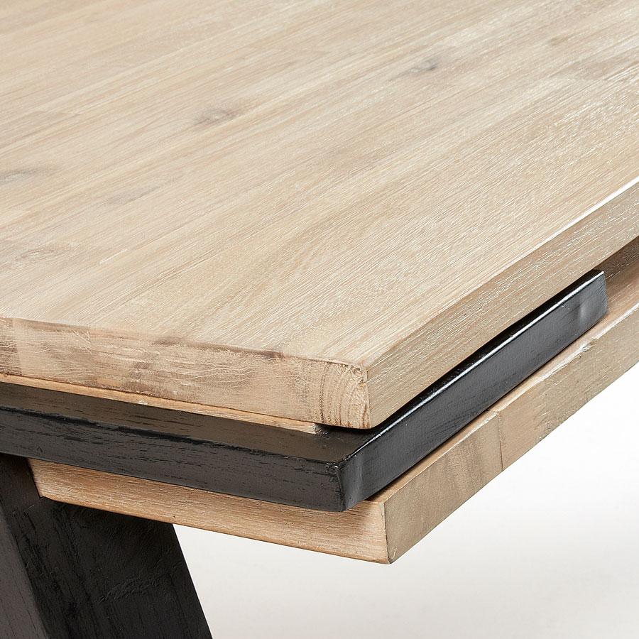 Mesa de jantar Tinn, madeira de acácia/metal
