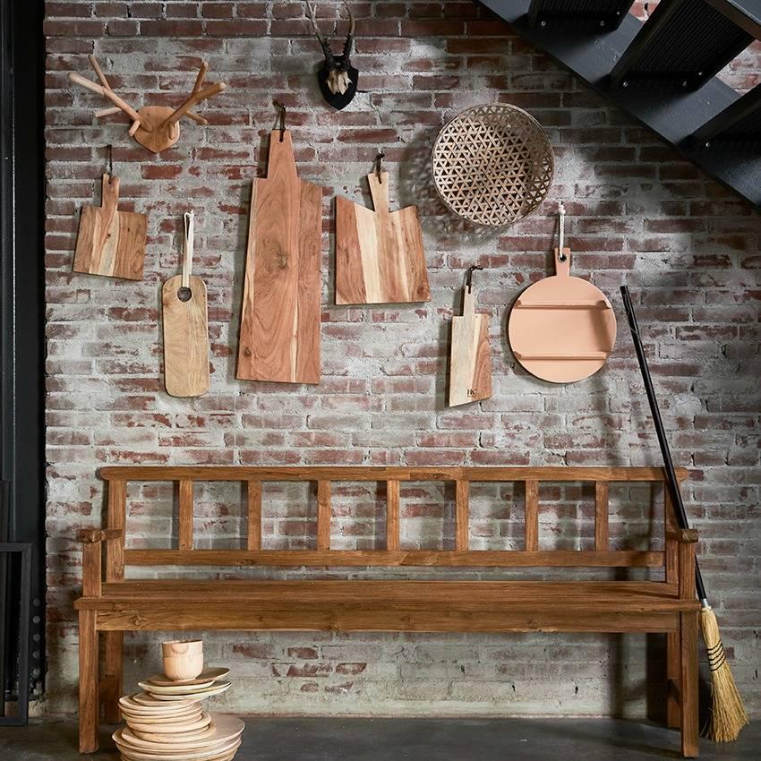 Tábua de cozinha em madeira manga, Ø36 cm