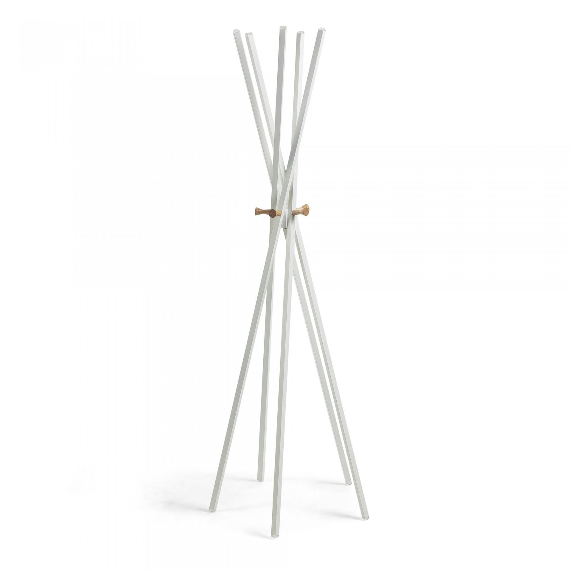 Cabide de pé em metal/madeira, 60x170 cm