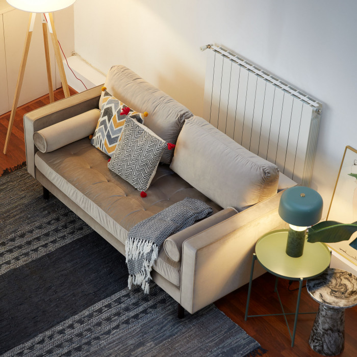 Candeeiro de pé Zagui, madeira faia, Ø50x155 cm