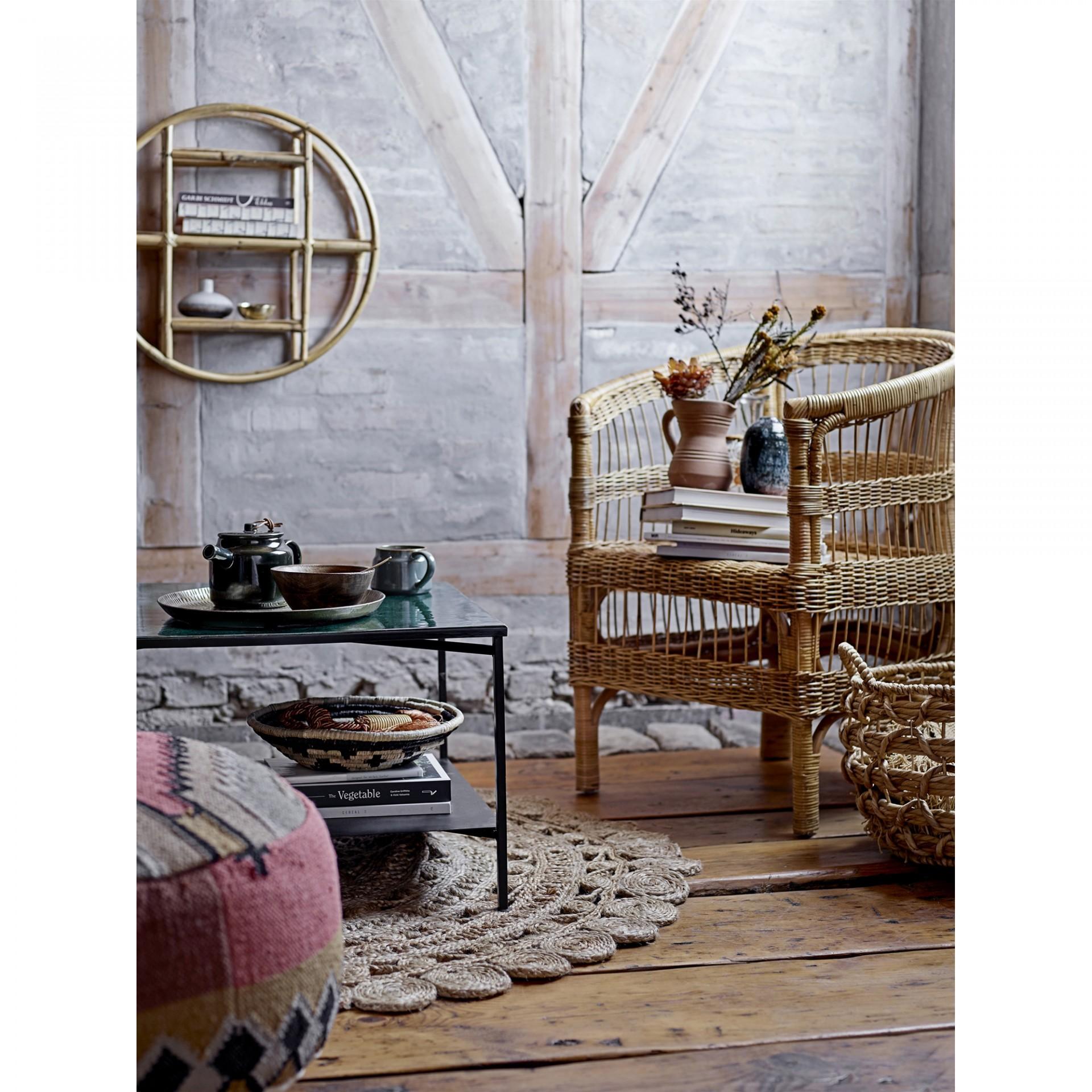 Estante de parede Sia, cana de bambú, Ø52x20 cm