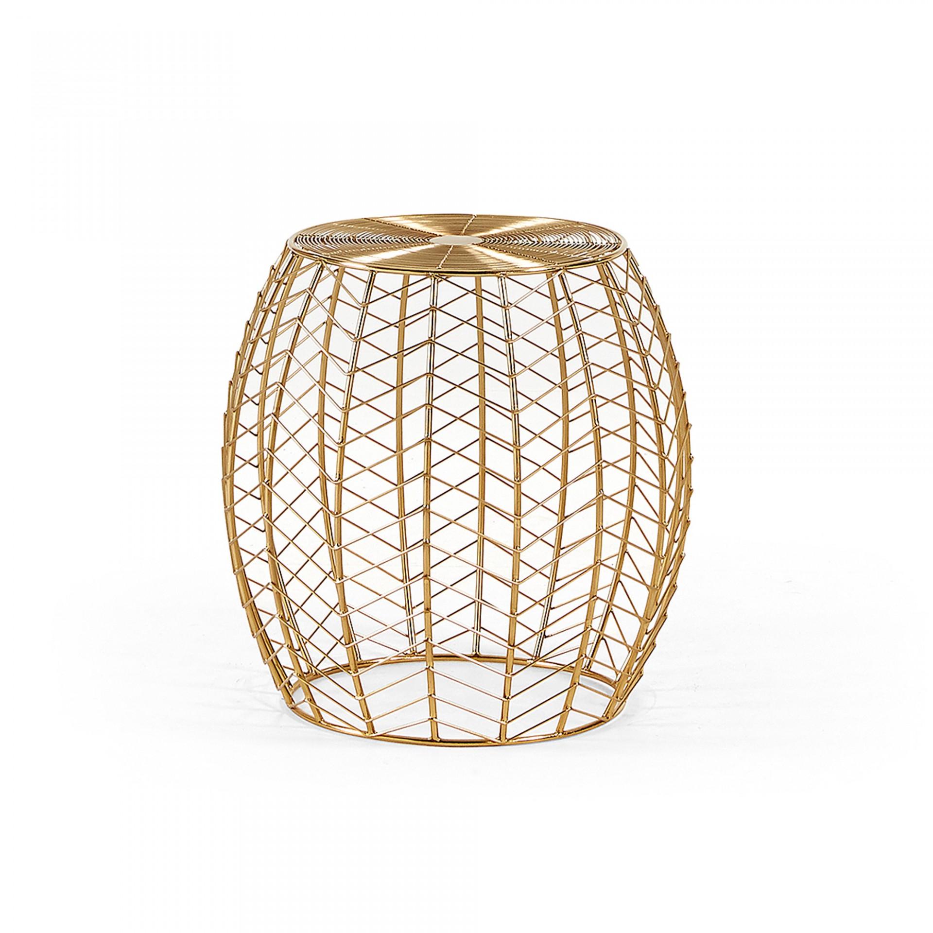 Mesa de apoio em metal, dourado, Ø46x44 cm