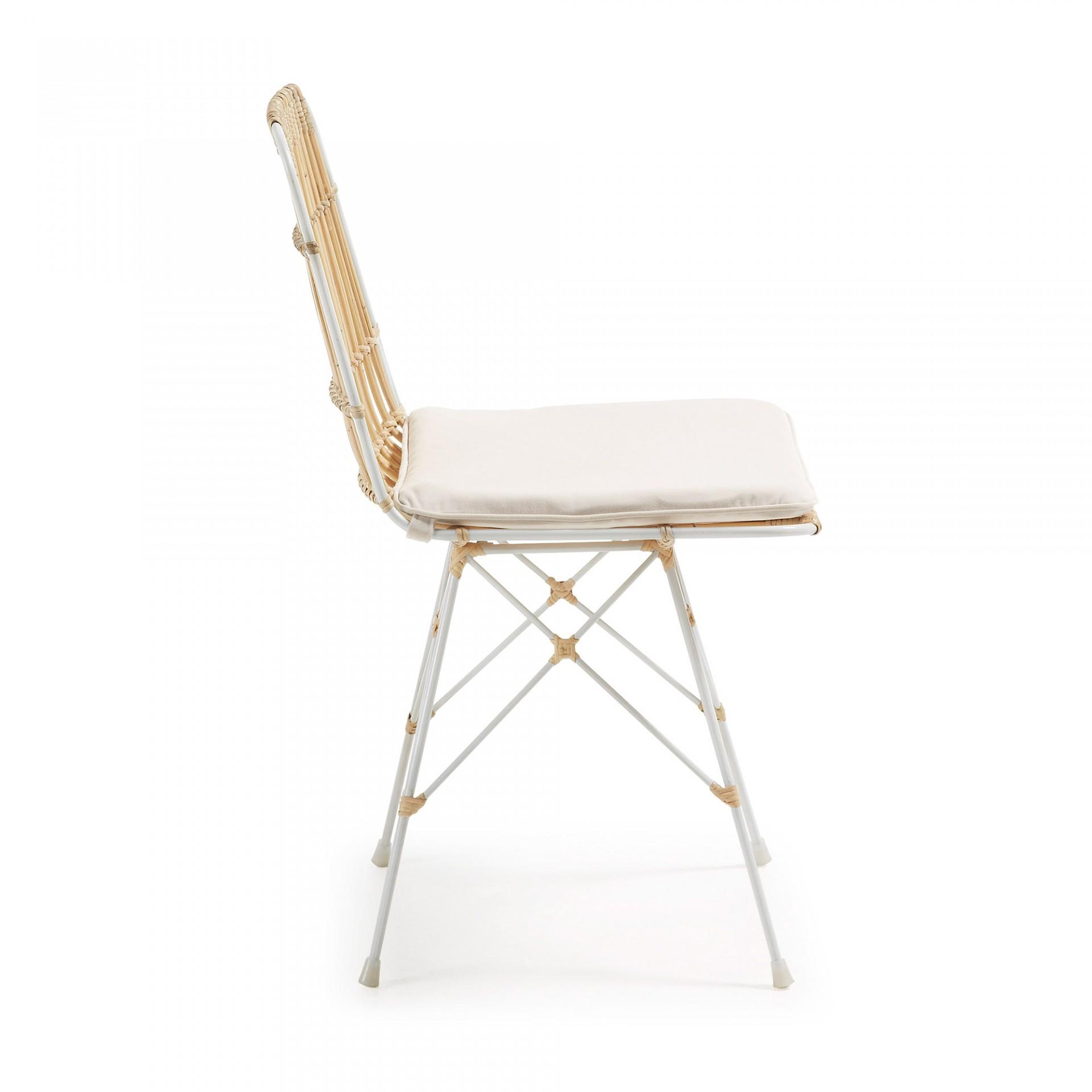 Cadeira Isla, vime/metal, c/almofada