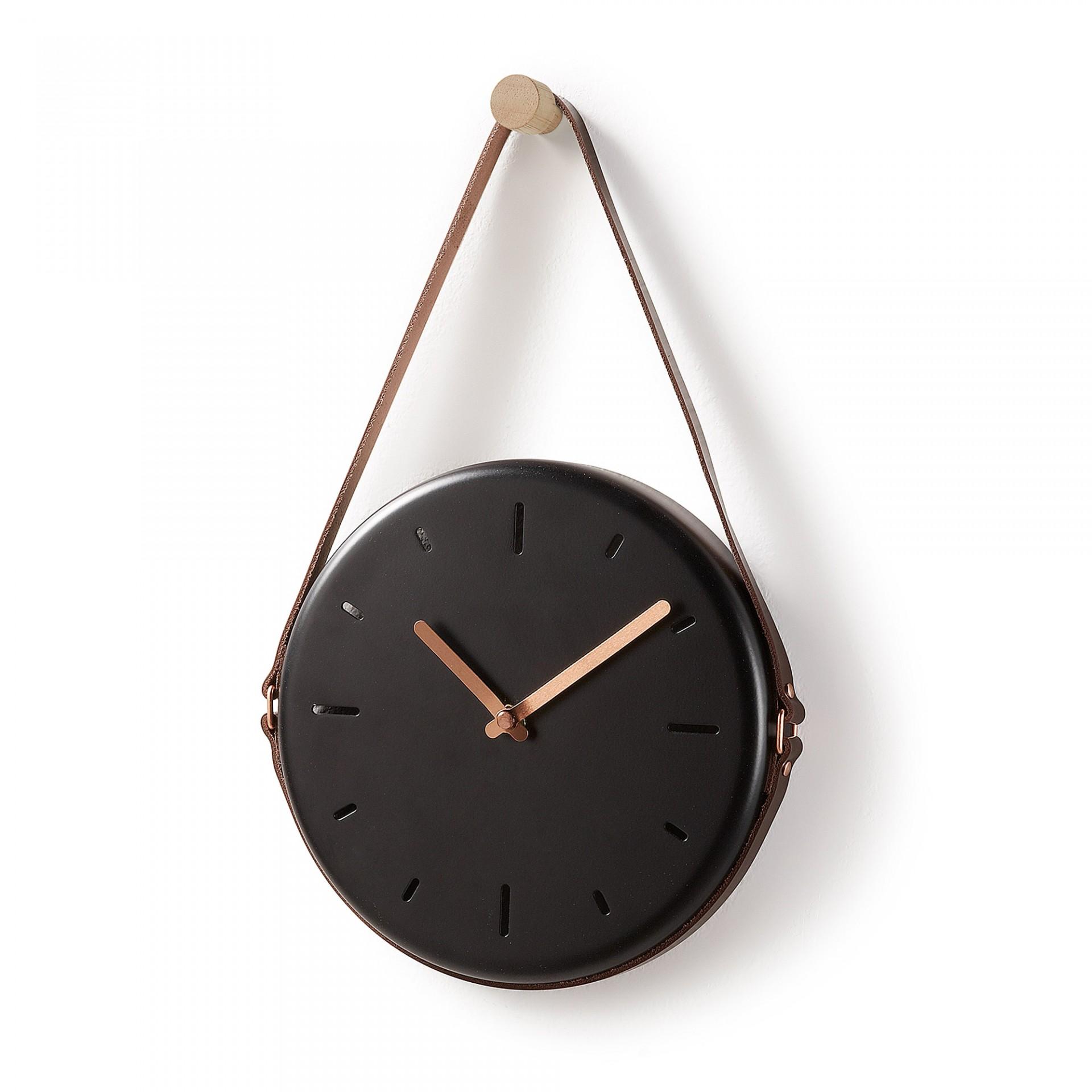 Relógio de parede em metal, Ø21x34 cm