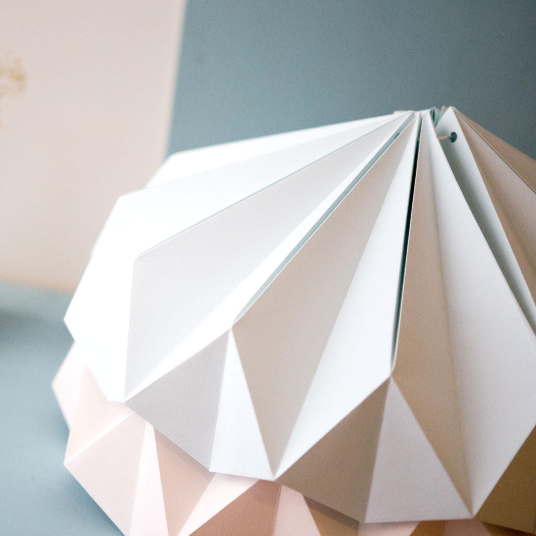 Candeeiro de papel Origâmi, modelo Serán