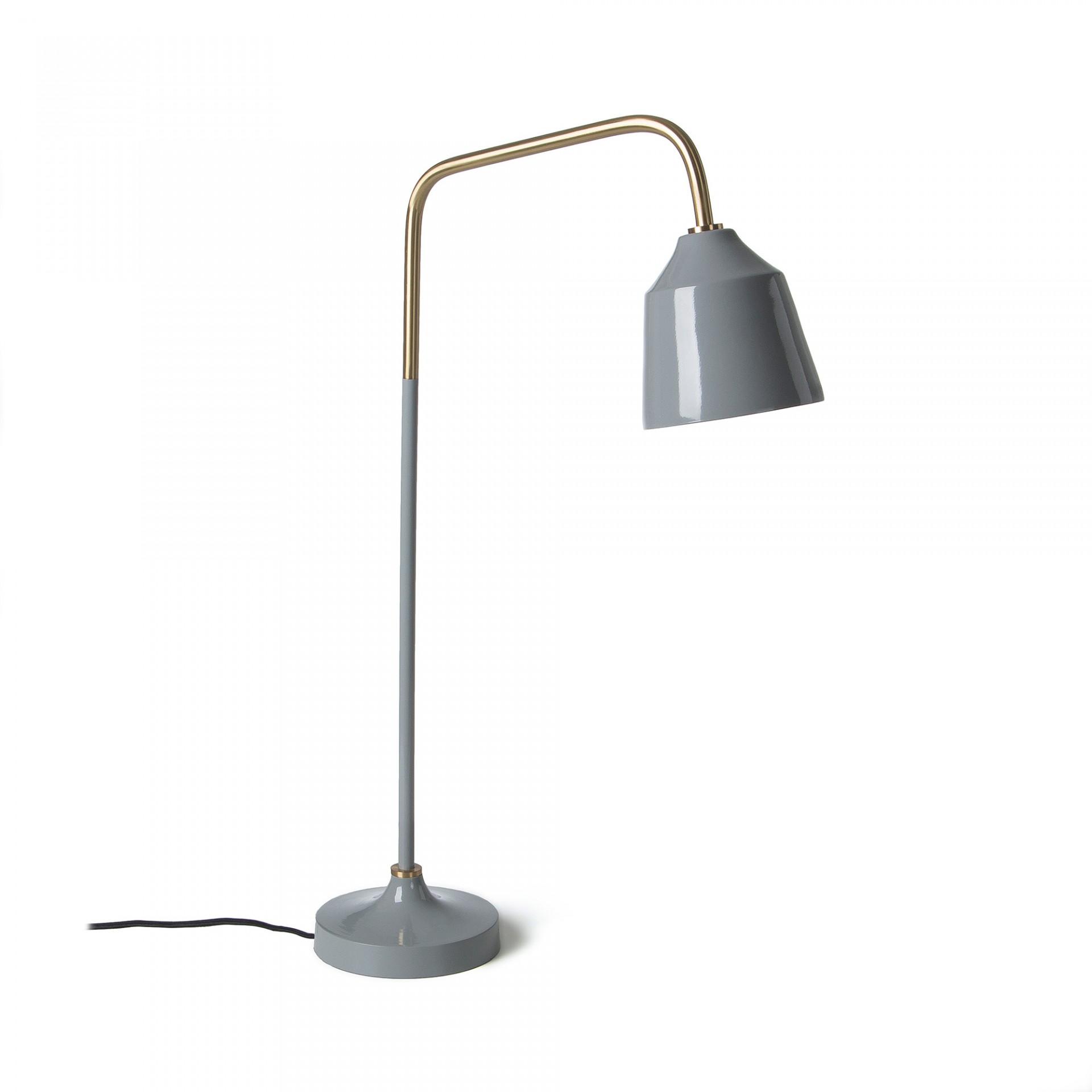 Candeeiro de mesa, metal, gris, 15x65 cm