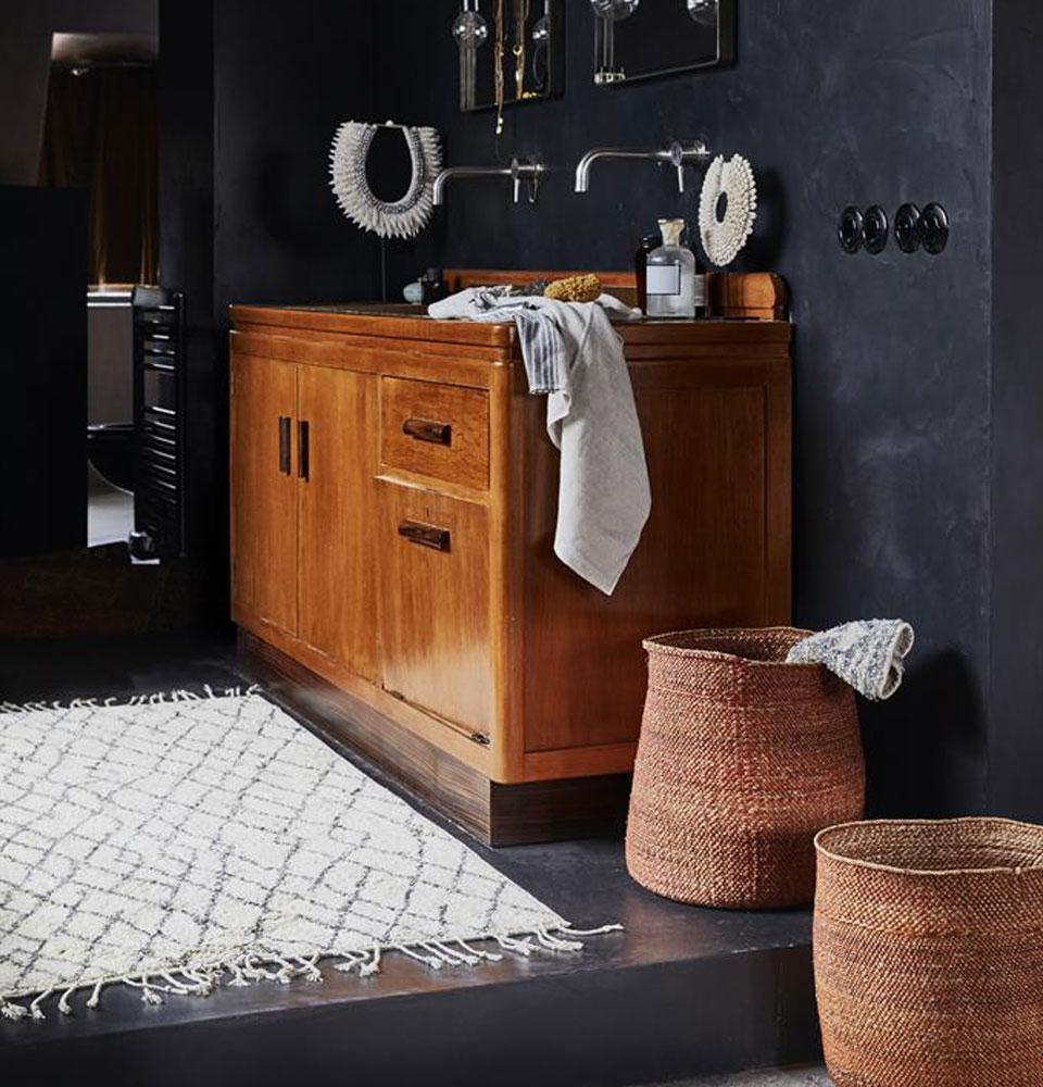 Tapete Berbere, p/casa de banho, 60x90 cm