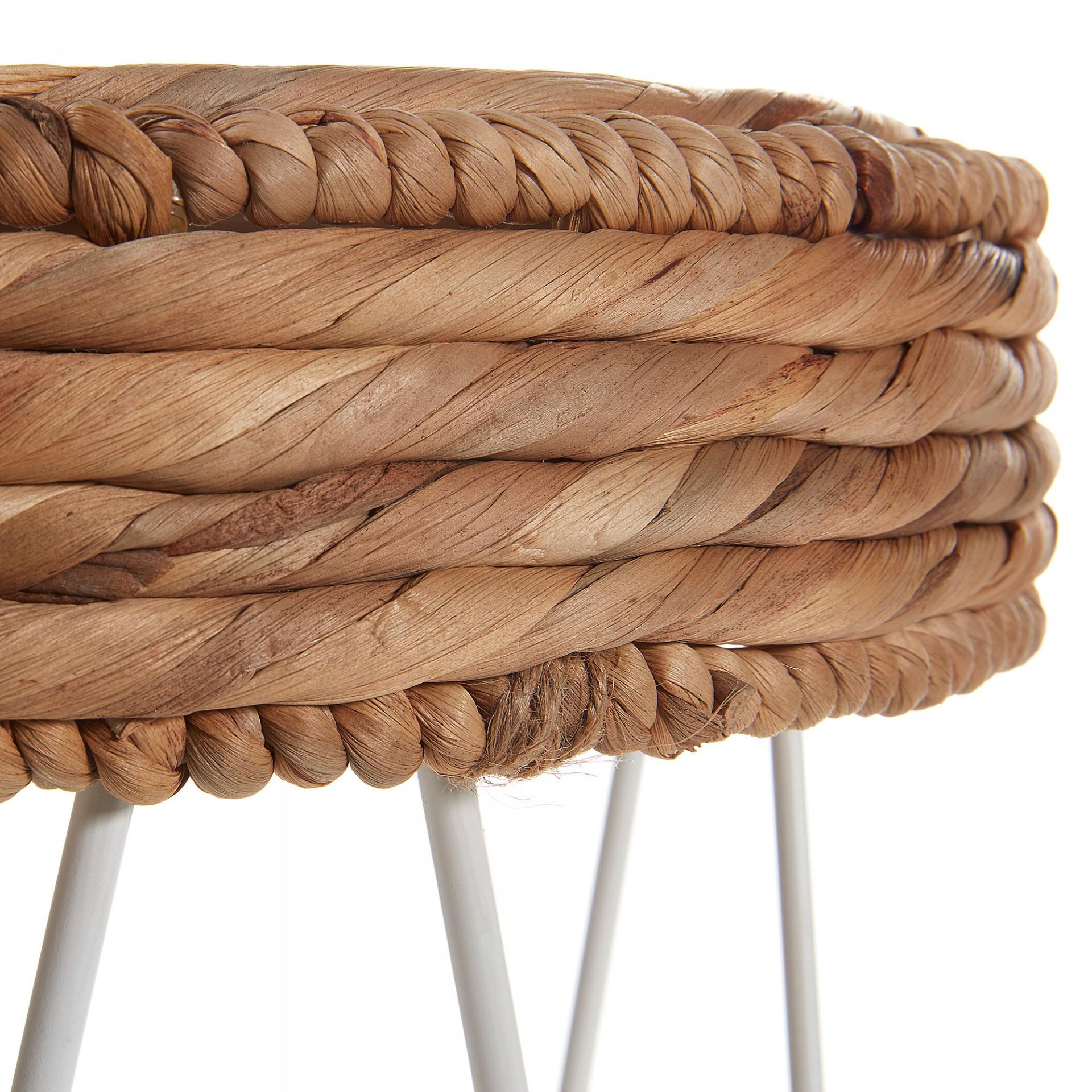 Mesa de apoio, Jacinto de água/metal, Ø36x49 cm