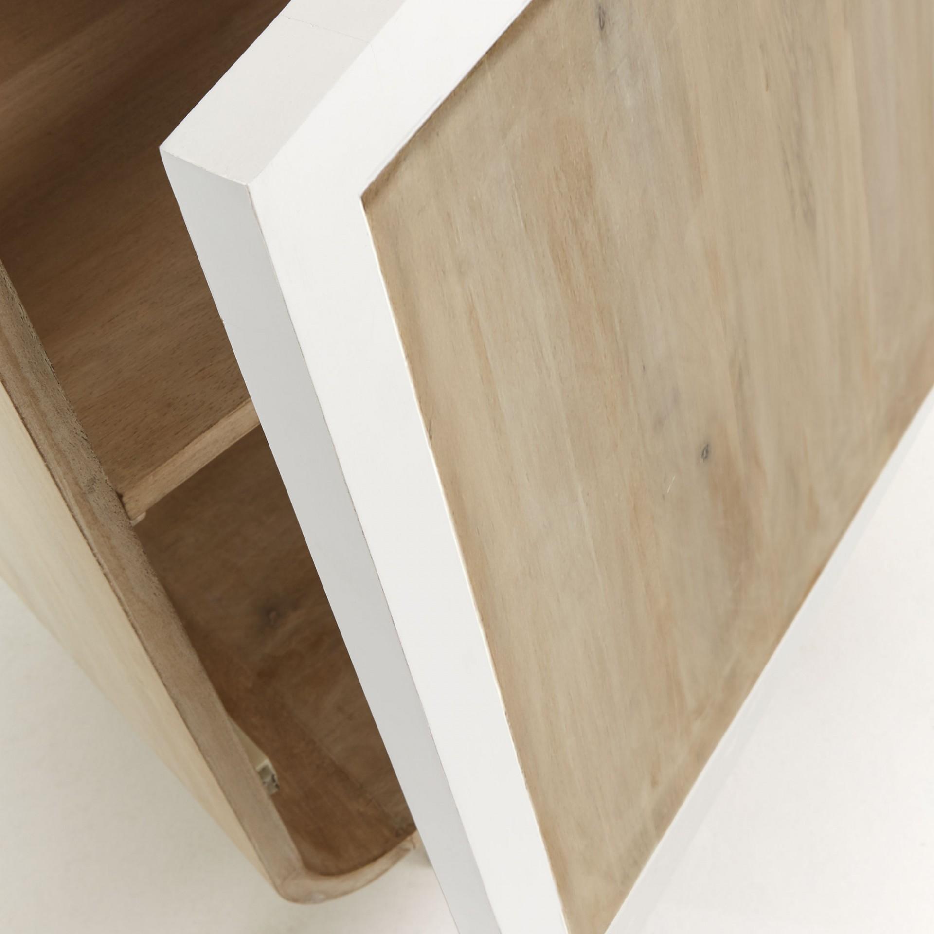 Aparador Geo, madeira de manga natural/cana bambú, 50x150 cm