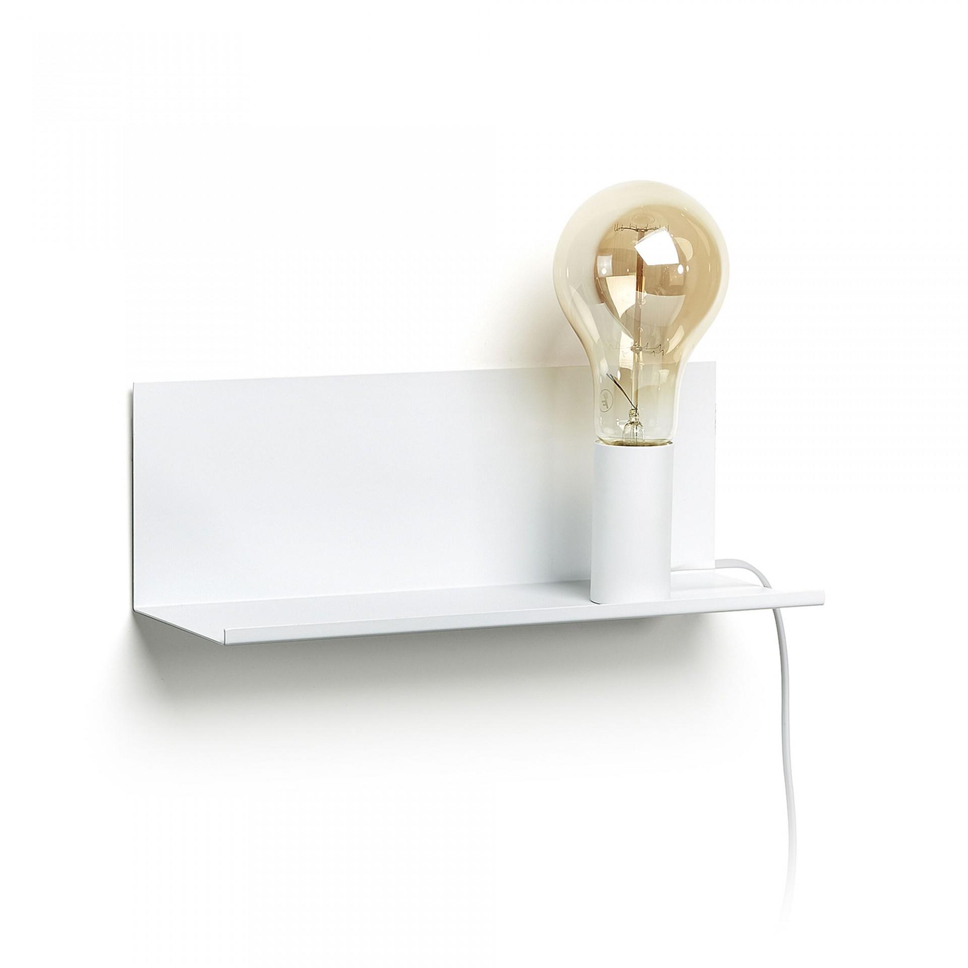 Aplique de parede, metal, branco, 12x35 cm