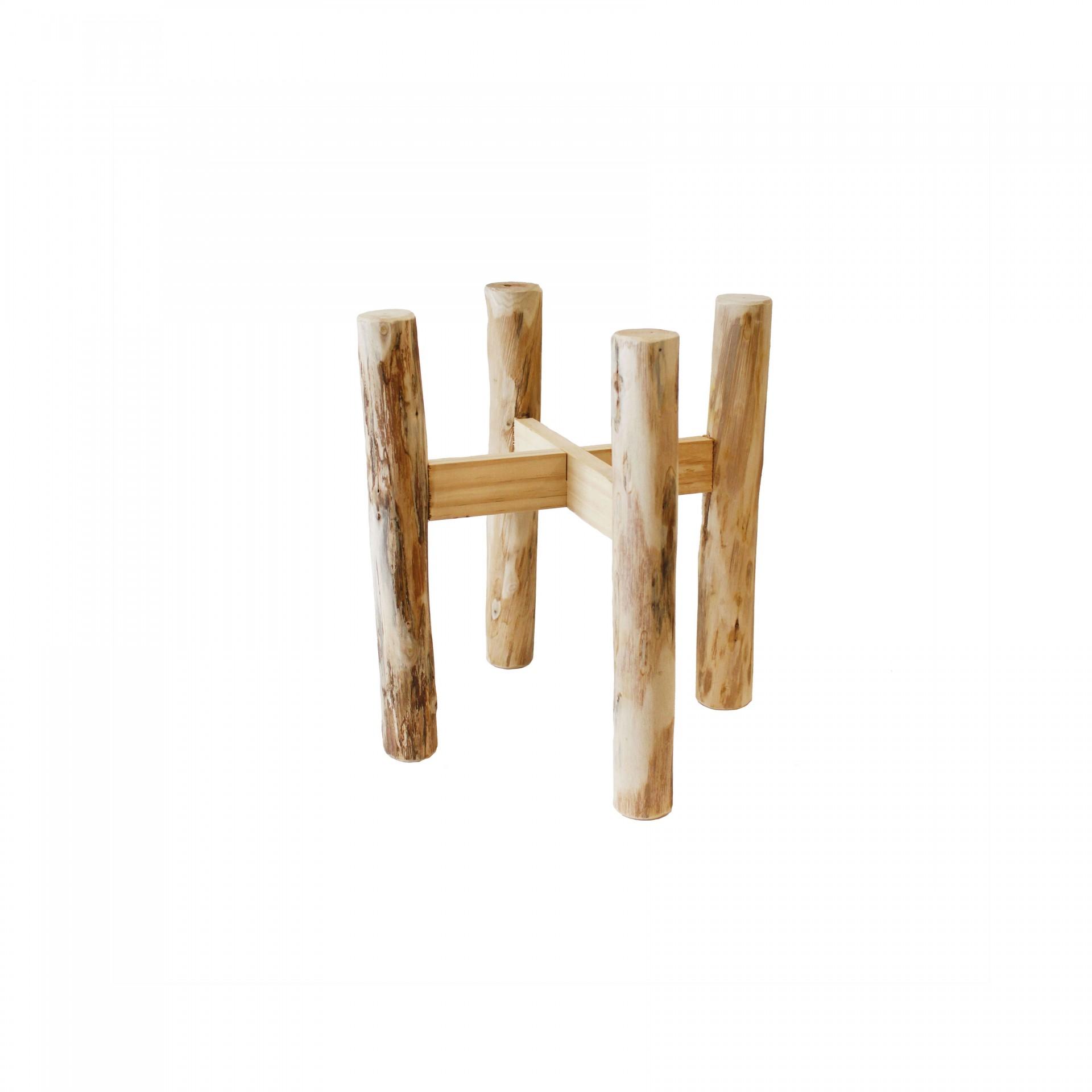 Suporte p/vasos, madeira, 36x40 cm