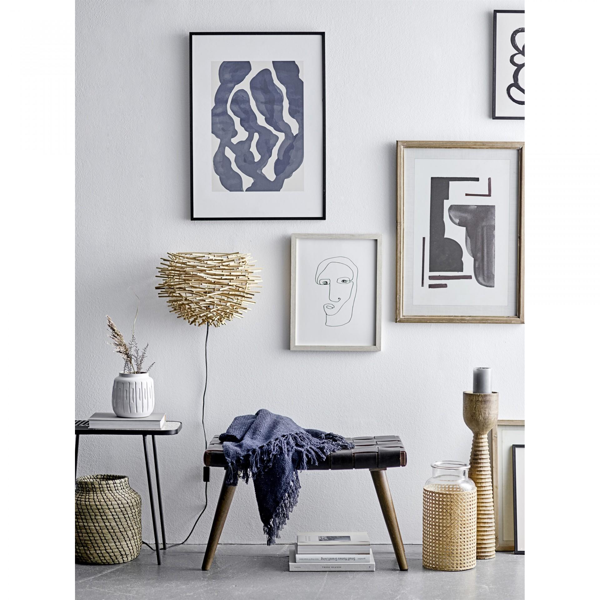 Candeeiro de parede, rattan natural, 38x28 cm