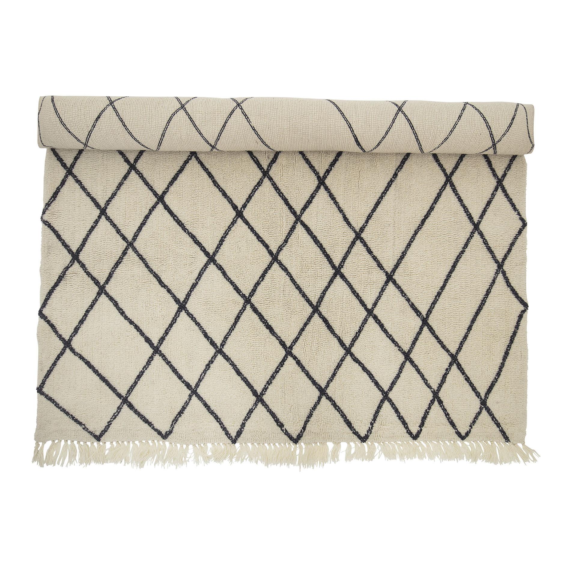Tapete Berbere em lã natural, 200x300 cm