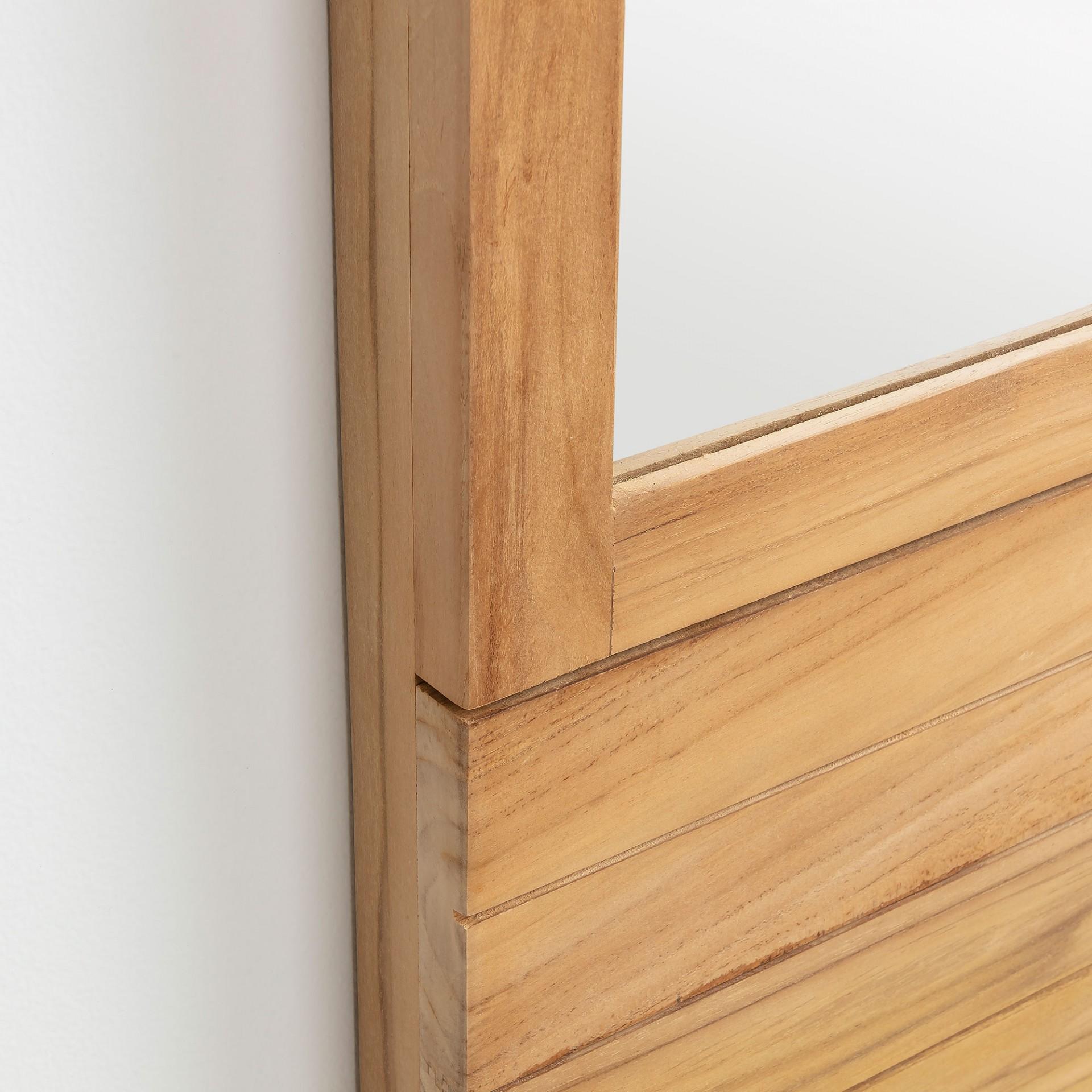 Espelho p/casa de banho, madeira teca natural, 60x110 cm