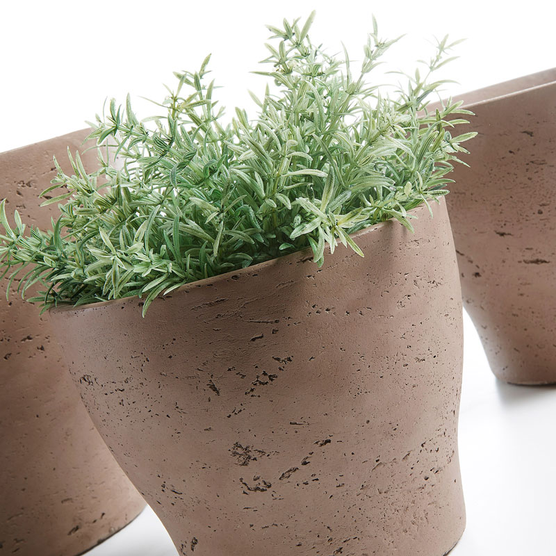 Vasos Brow, cimento, (Conj.3)