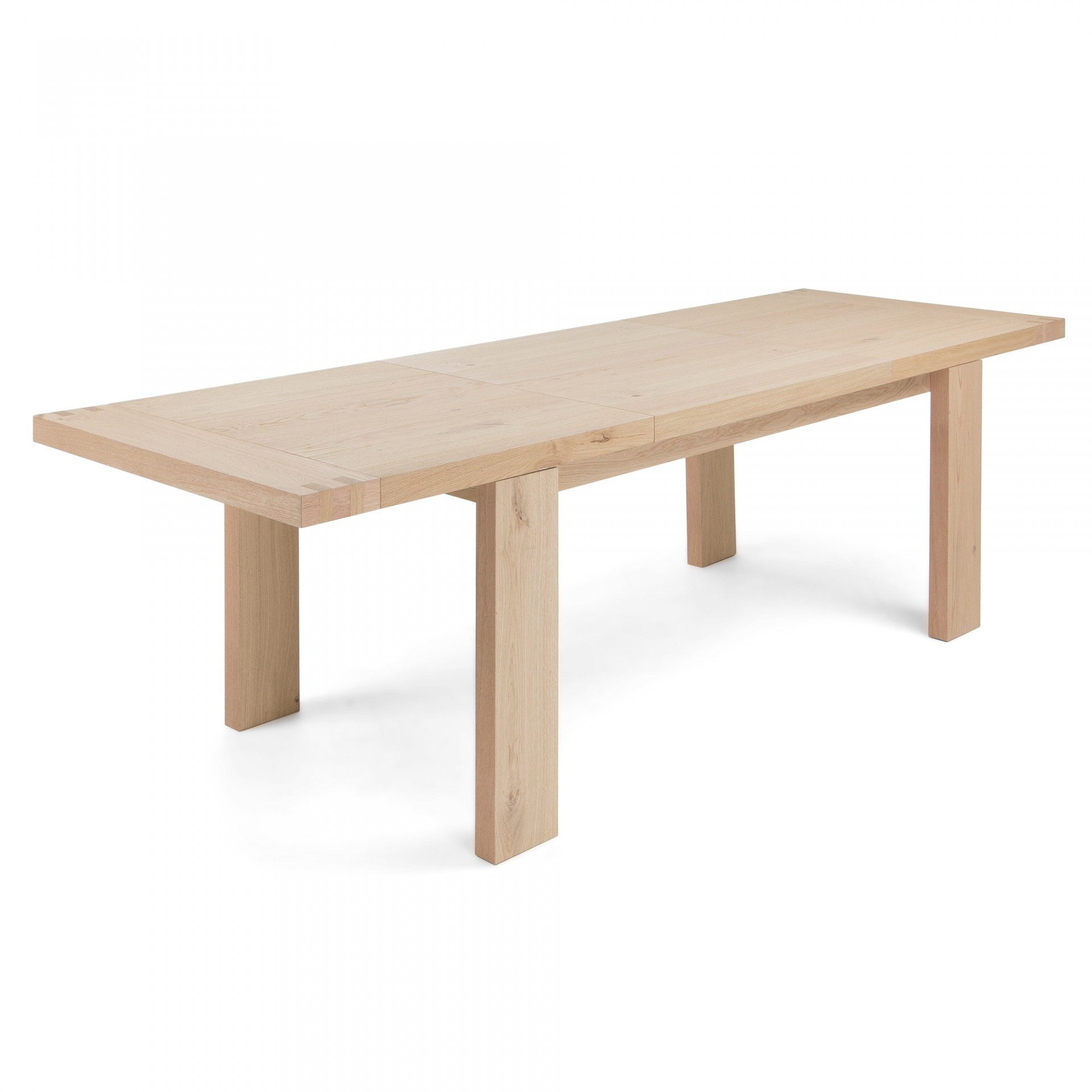 Mesa extensível, madeira de carvalho natural, 160(240)x90 cm