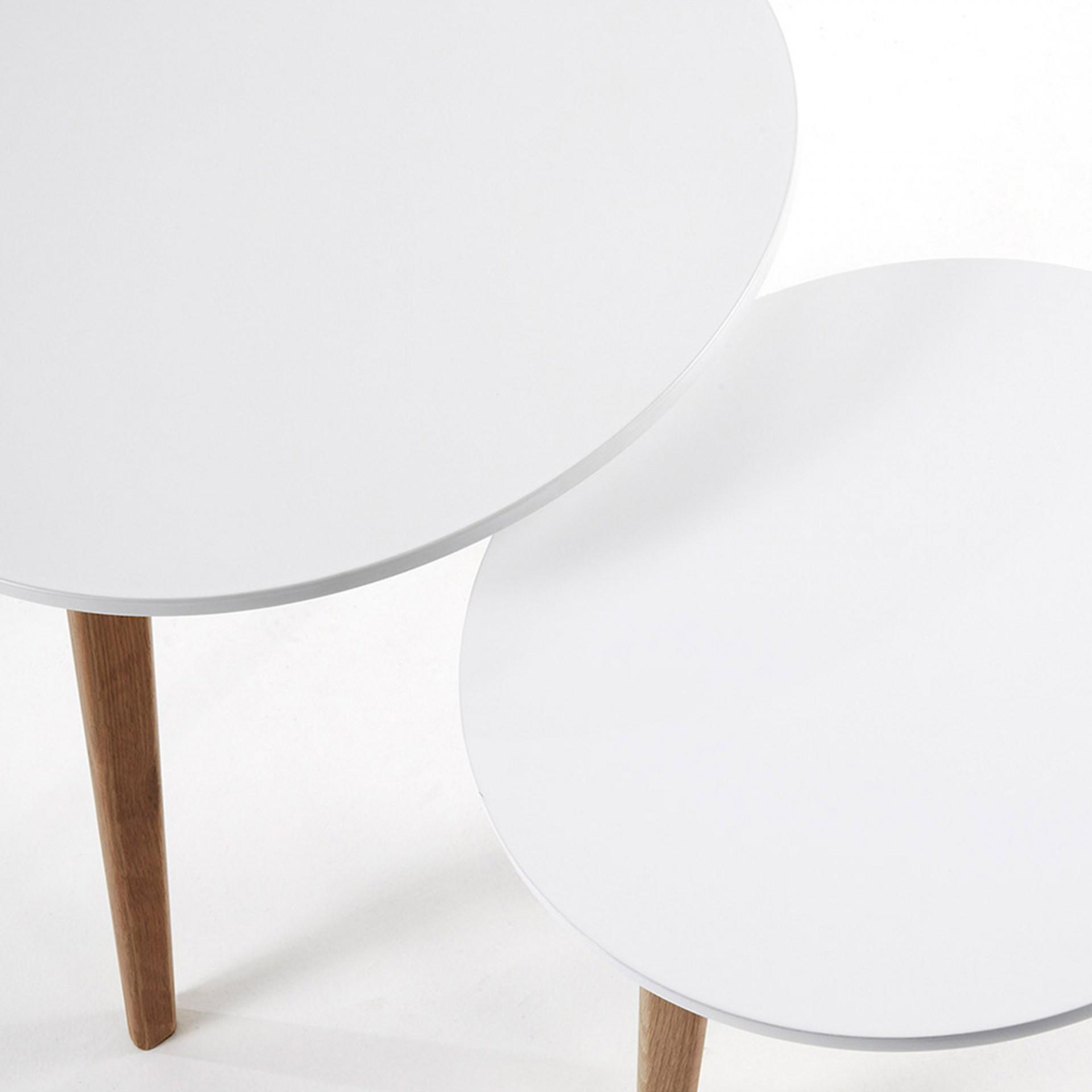 Mesas de apoio em madeira carvalho, (Conj.2)