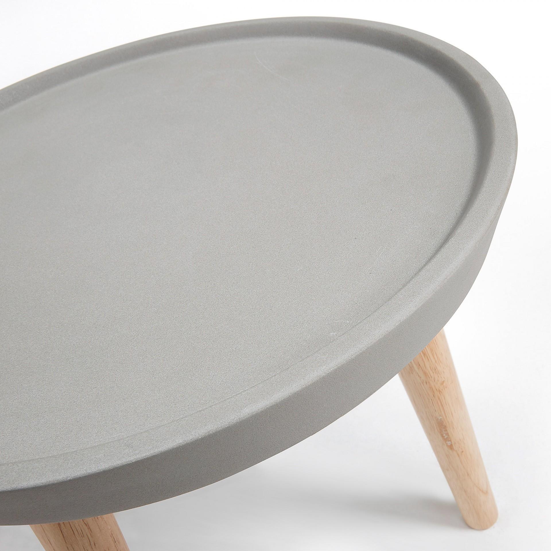 Mesa de apoio em poli cimento, Ø40 cm