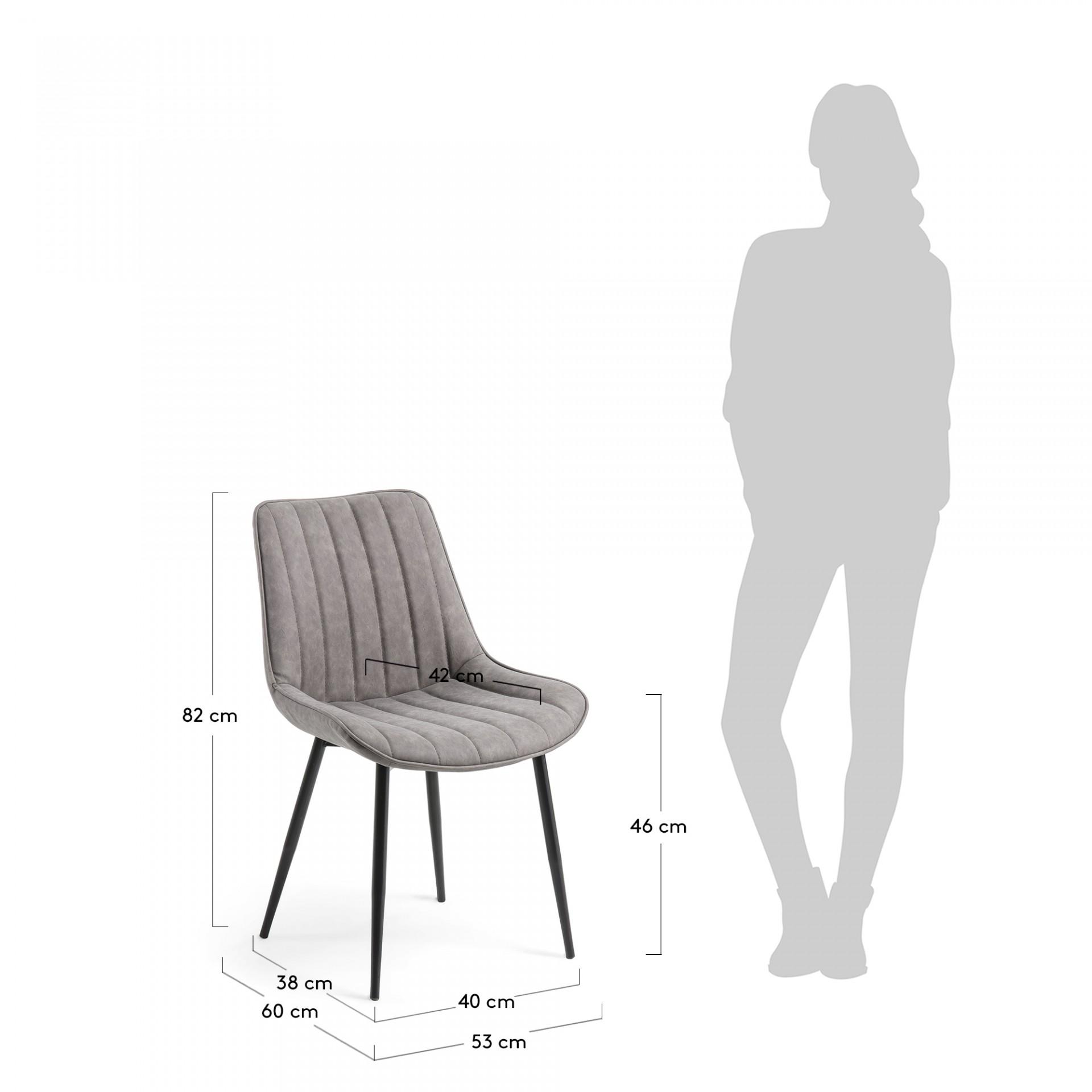 Cadeira Janise, estofada em pele sintética