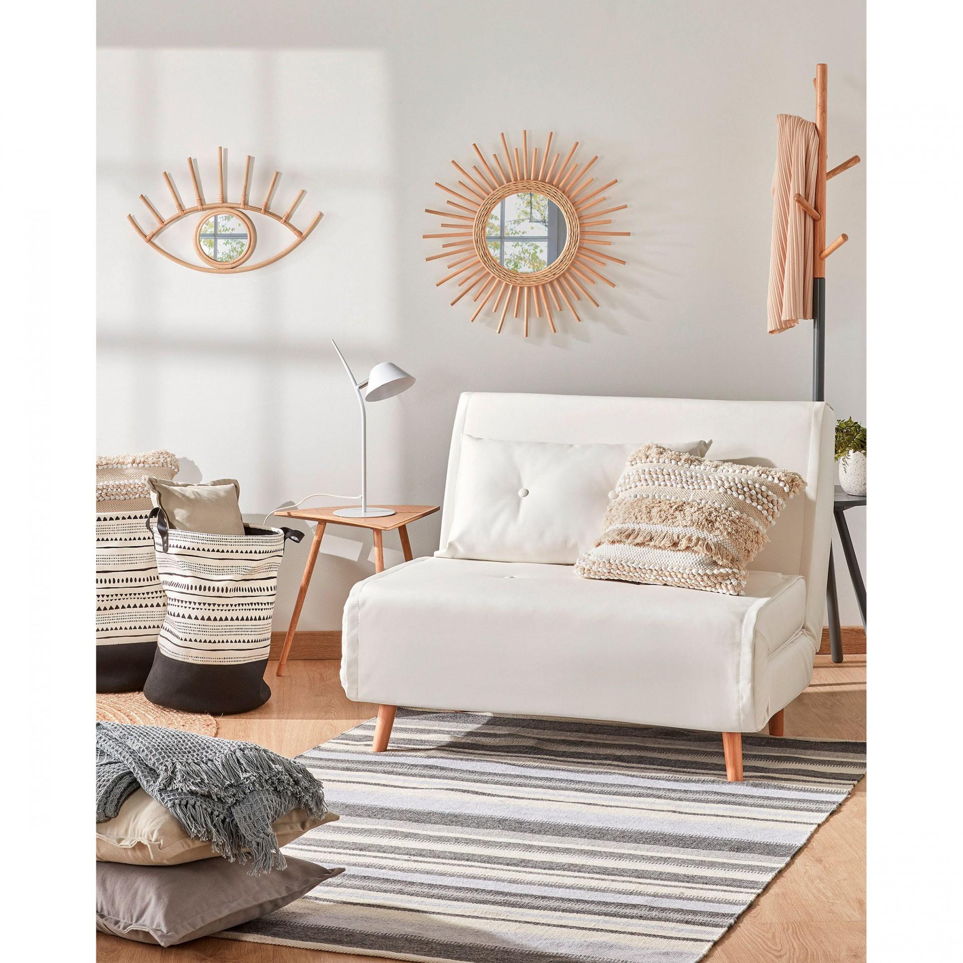 Candeeiro de mesa Aurea, metal, branco