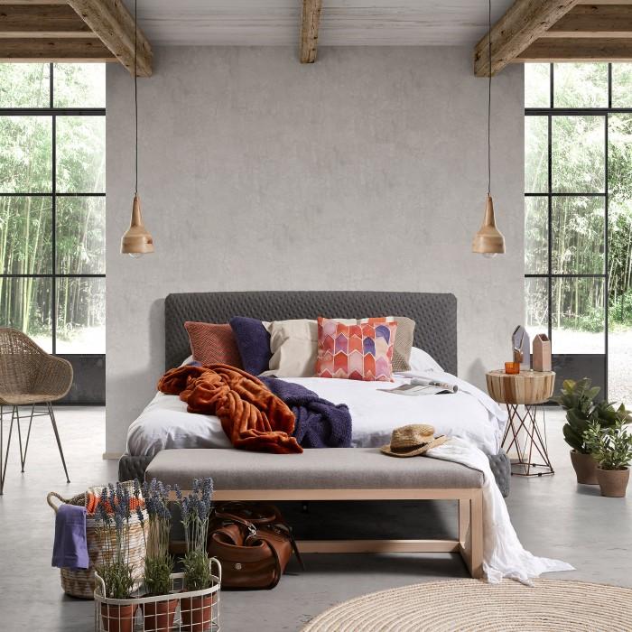 Candeeiro de tecto Ally, madeira manga, Ø19x32 cm