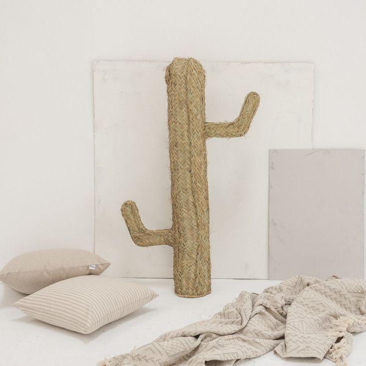 Cacto decorativo em esparto, Ø16x100 cm