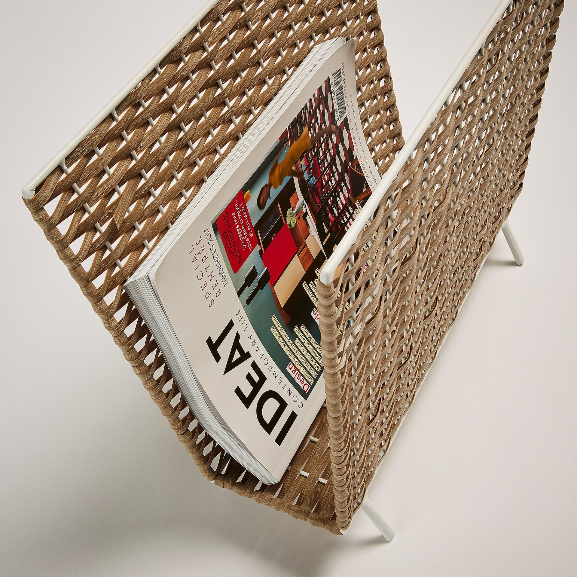 Porta revistas em vime, 35x42 cm