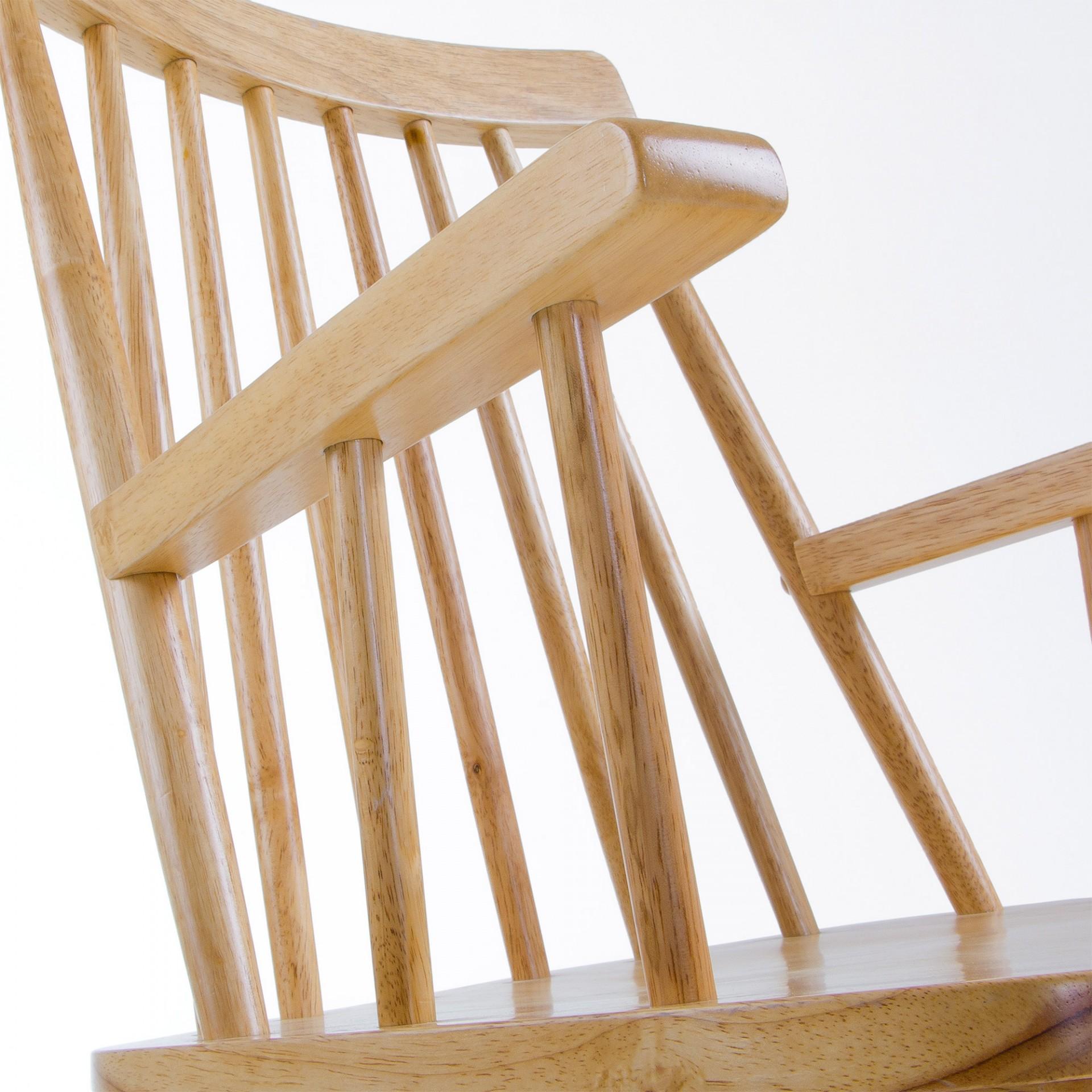 Cadeira c/braços, madeira de seringueira natural