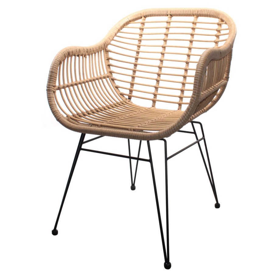 Cadeira Brand, vime sintético, 57,5x81,5 cm