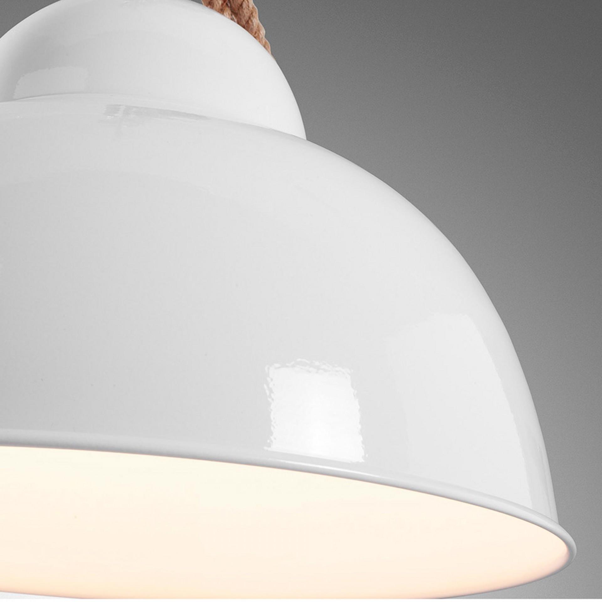Candeeiro de tecto Ging, branco, Ø38x30 cm