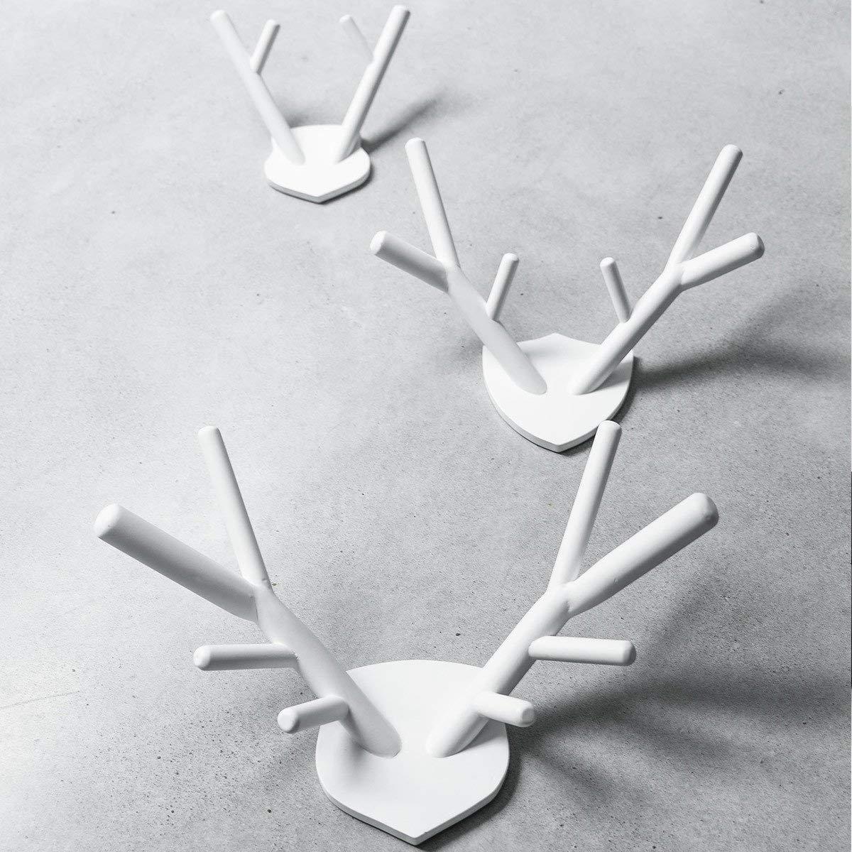 Cabide decorativo veado, branco