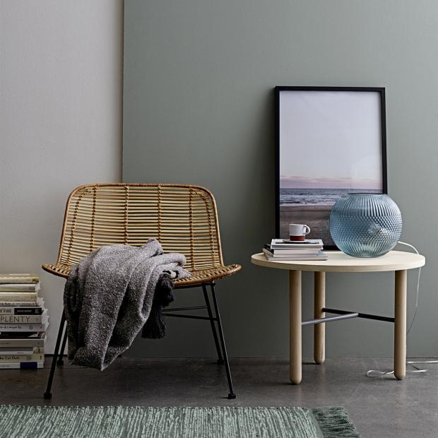 Mesa de apoio em madeira carvalho natural, Ø60x42 cm