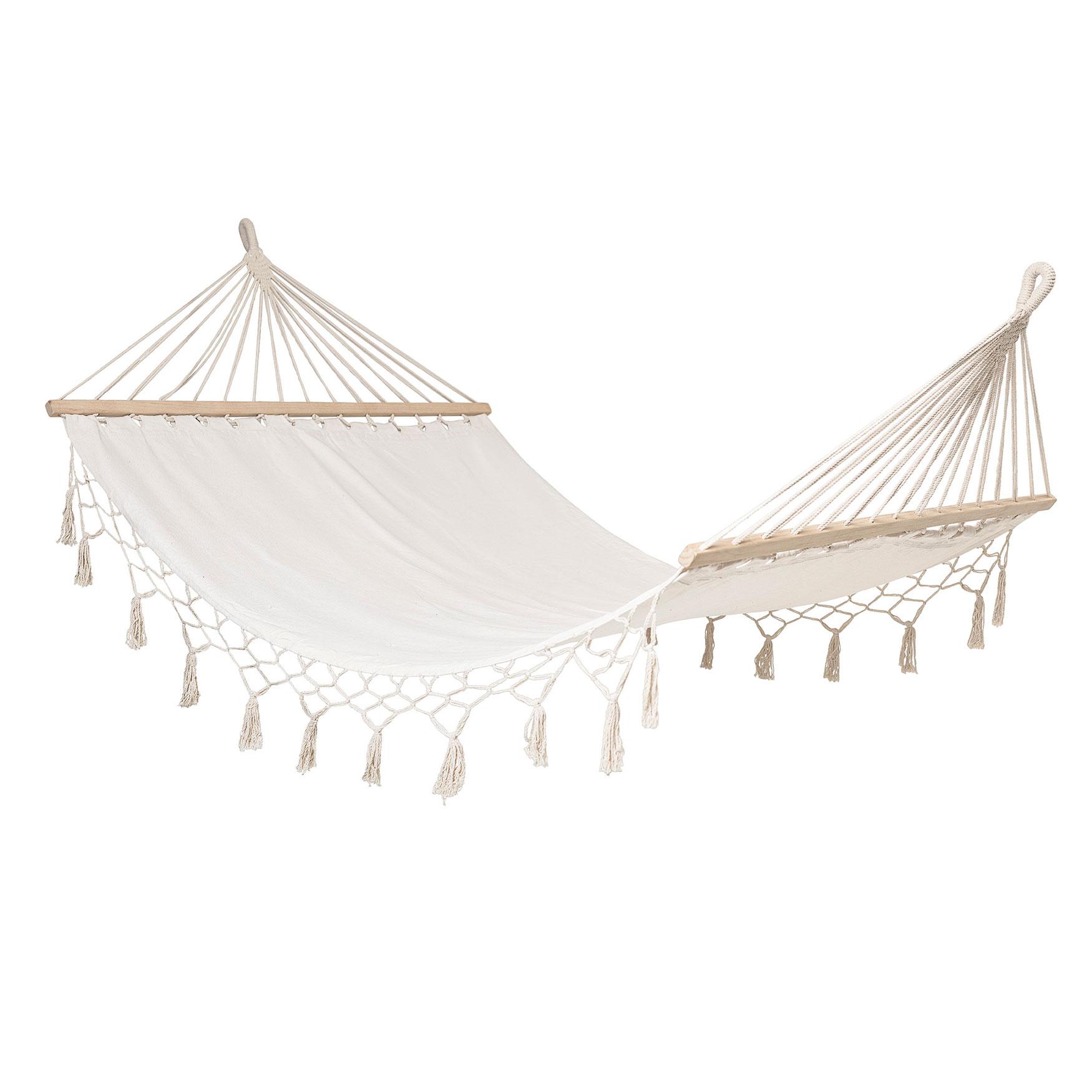 Cama de rede c/franjas, 105x190 cm