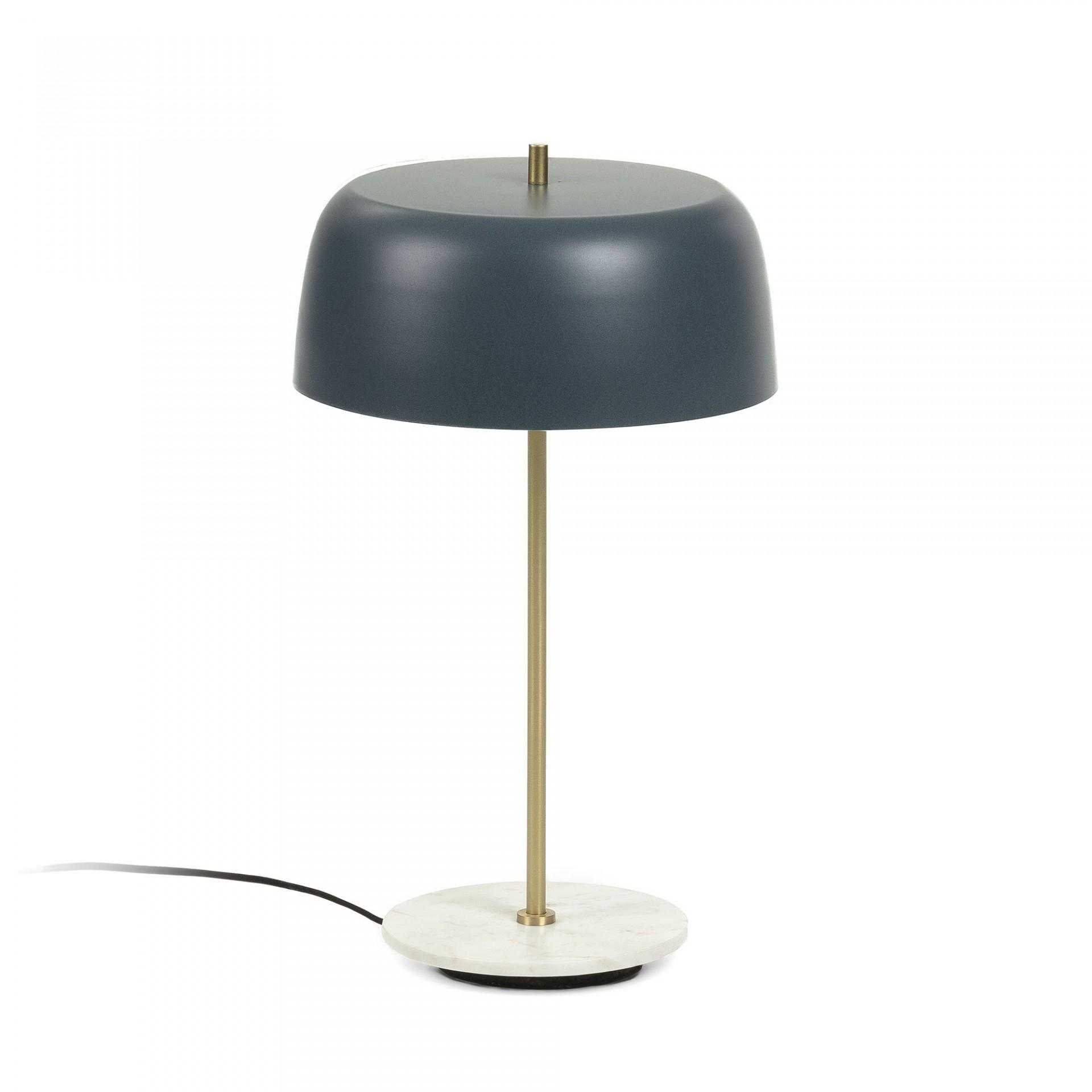 Candeeiro de mesa, metal/mármore, Ø31x53 cm