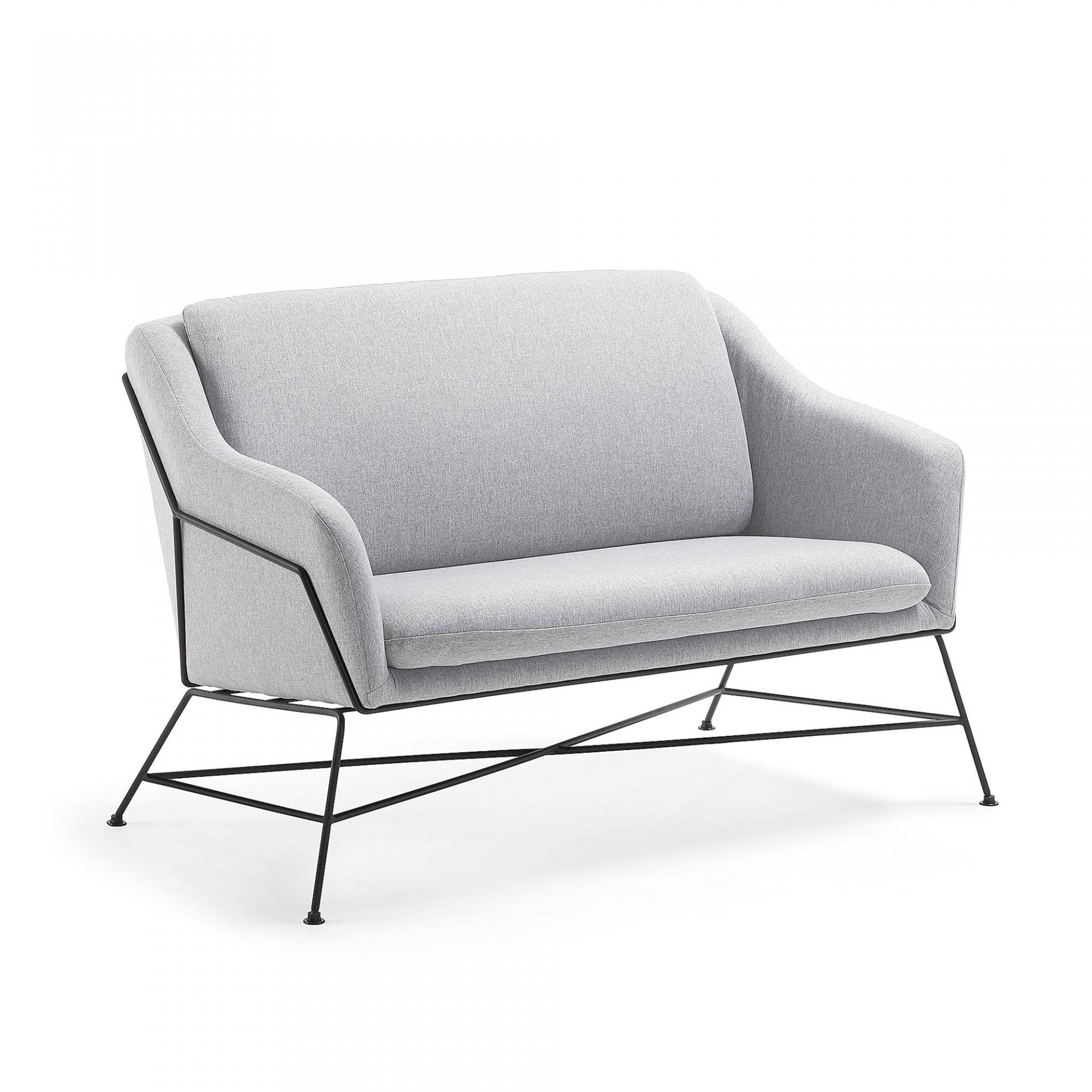 Sofá Breda, estofado, 2 assentos, 73x128 cm
