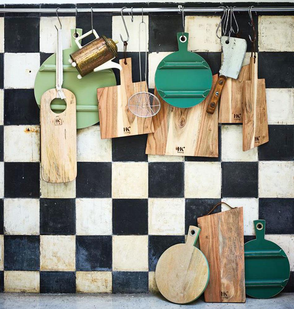 Tábuas de cozinha em madeira manga, (Conj.3)