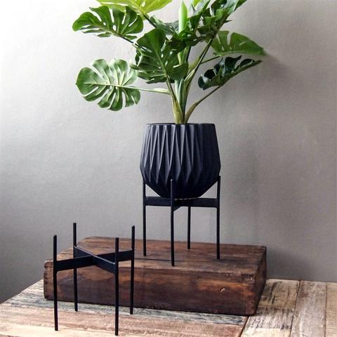 Suporte p/vasos, metal, 17x18 cm