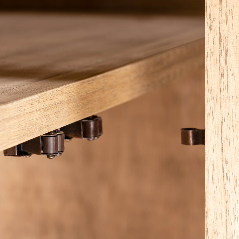 Aparador Kalú, madeira de mindi/rattan, 90x175 cm