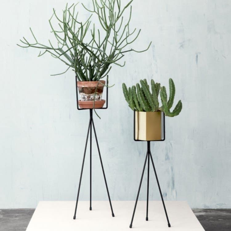 Suporte p/vasos, metal, 16x34 cm