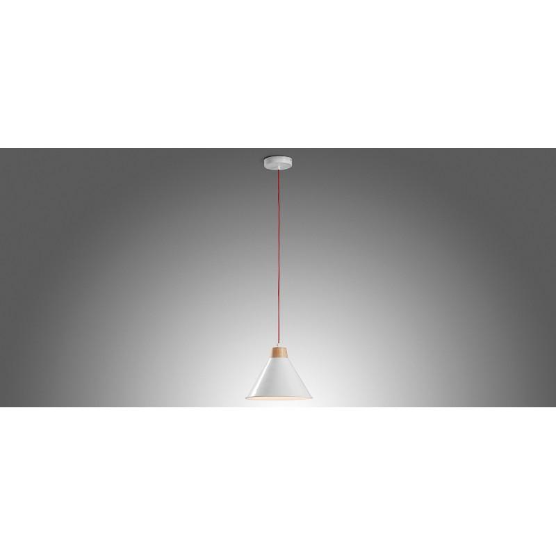 Candeeiro de tecto Bobs, metal, branco, Ø28X18 cm