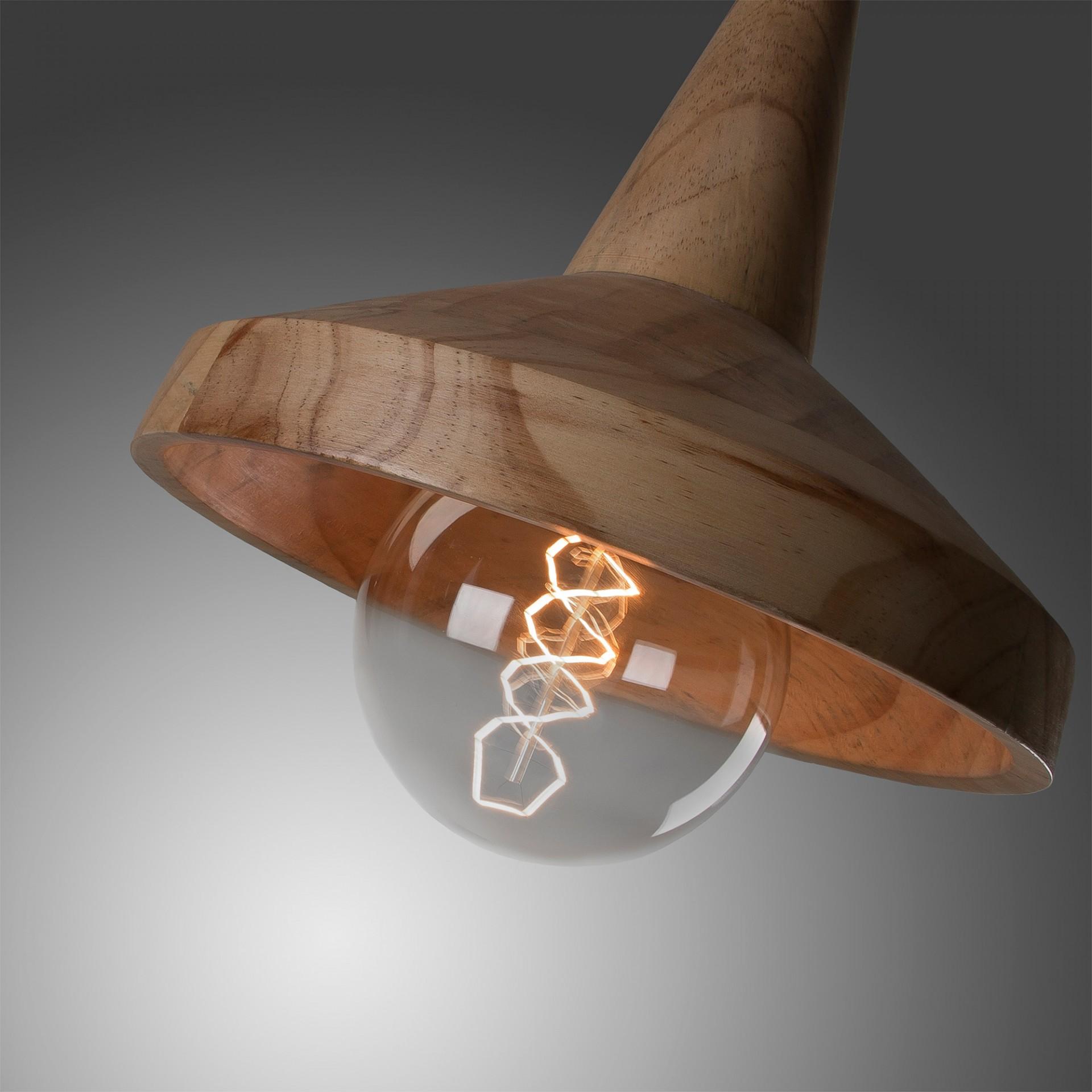 Candeeiro de tecto Ally, madeira manga, Ø28x25 cm