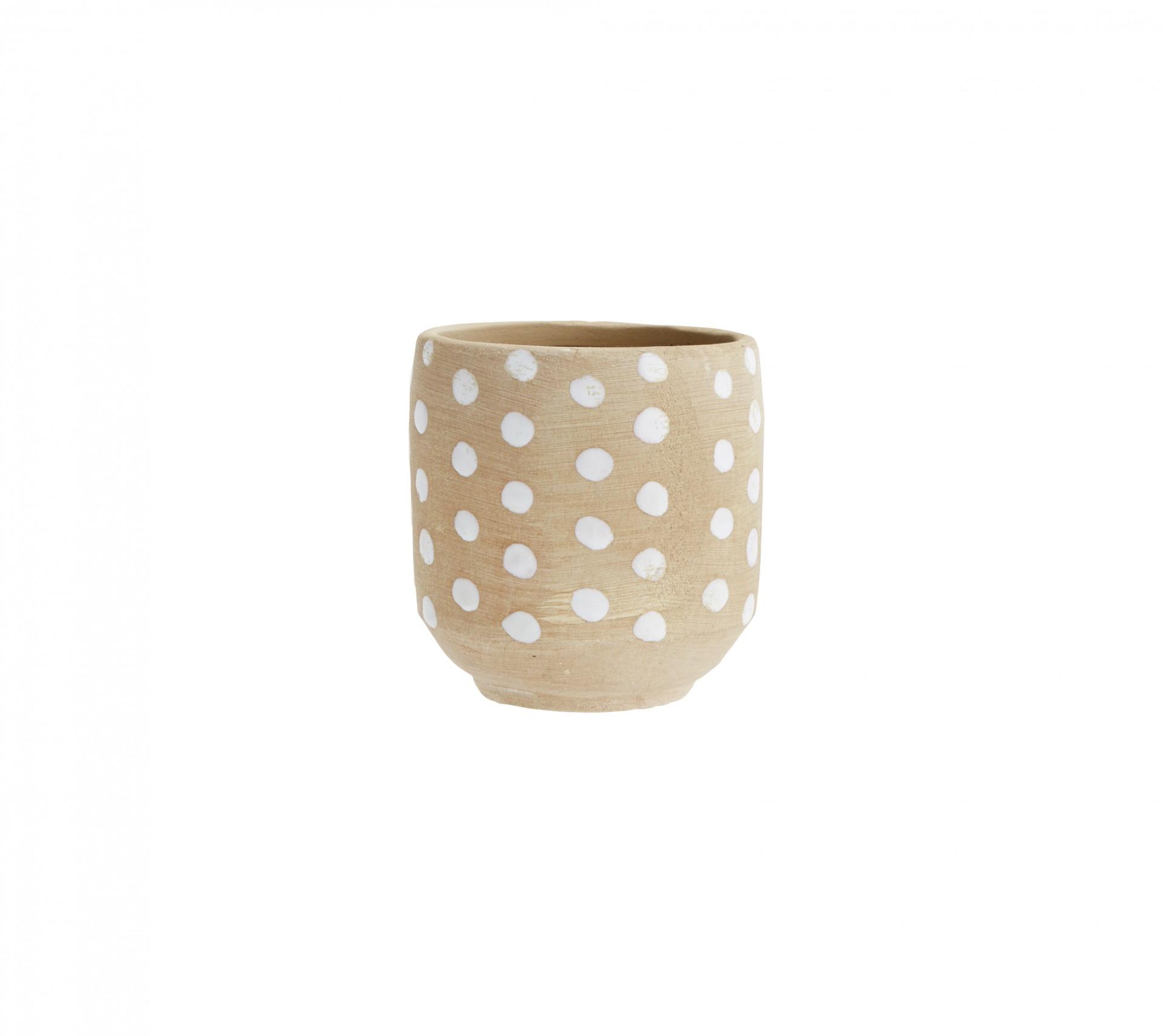 Vaso Dot, cerâmica, Ø13x13 cm