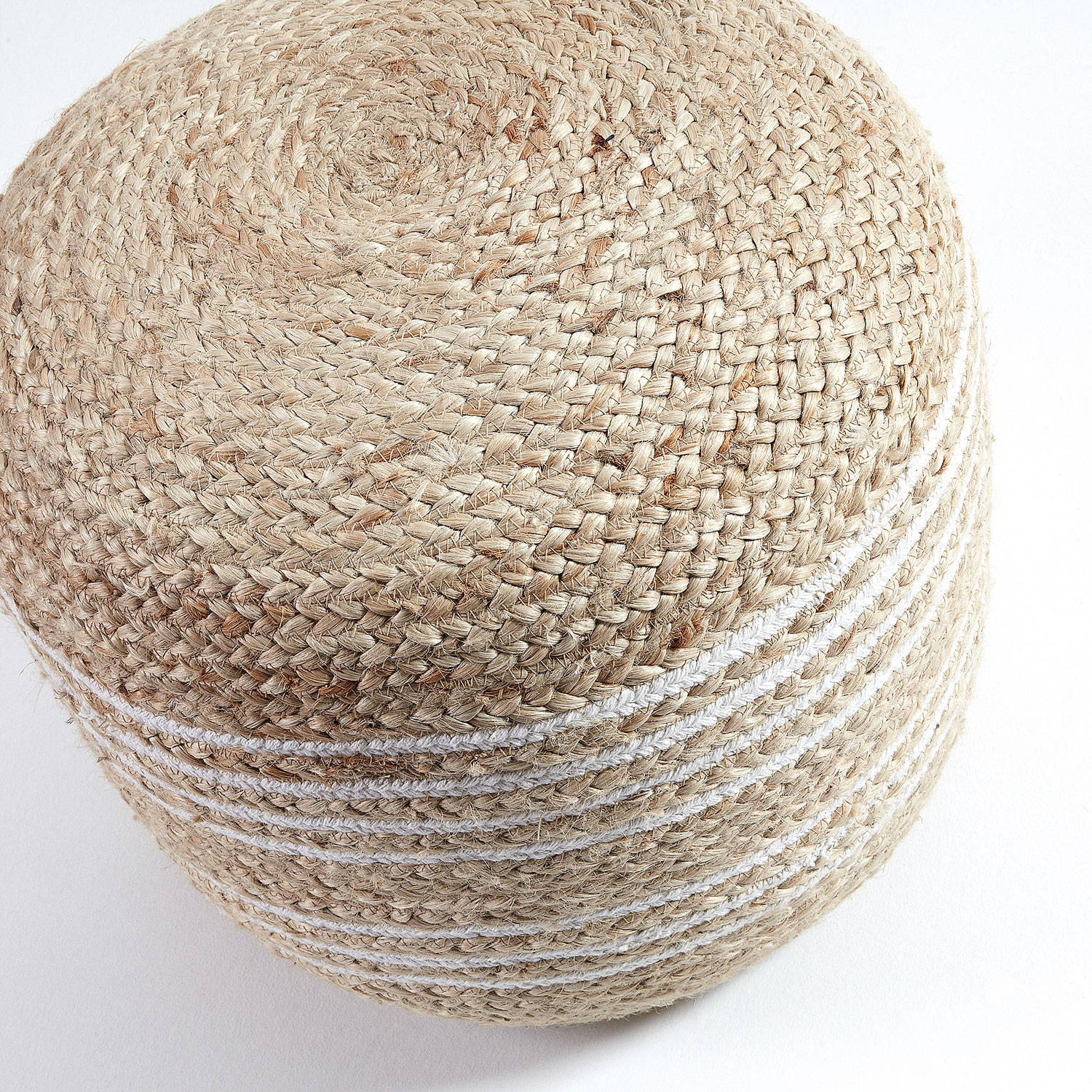 Puff Sam, juta natural, Ø45x45 cm