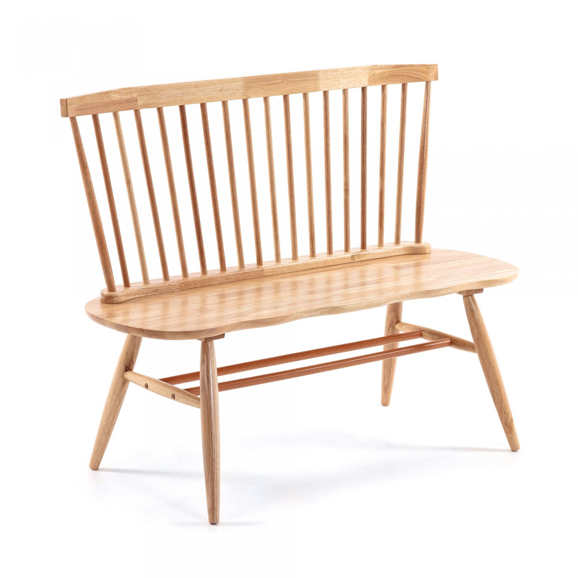 Banco Lover, madeira de seringueira, 120x95 cm