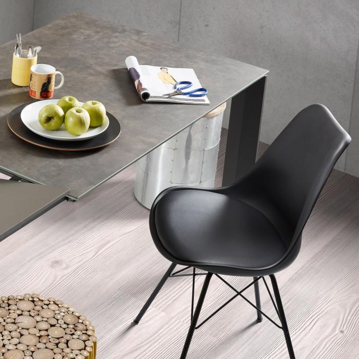 Cadeira Rafe, c/assento acolchoado