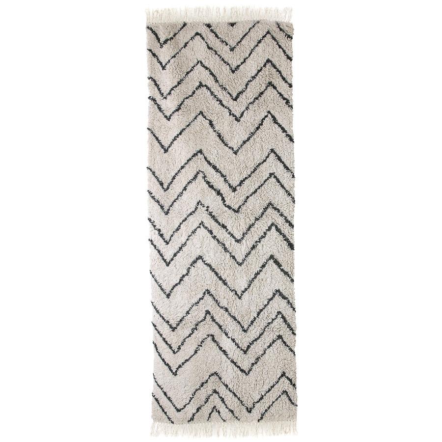 Tapete ZigZag, algodão, 75x220 cm